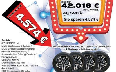 Leasing-Aktion RAM 1500 SLT Classic + 4 Winterkompletträder