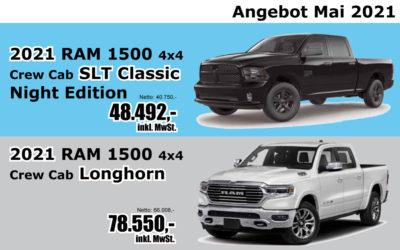 2021 RAM 1500 SLT Classic und RAM 1500 Longhorn